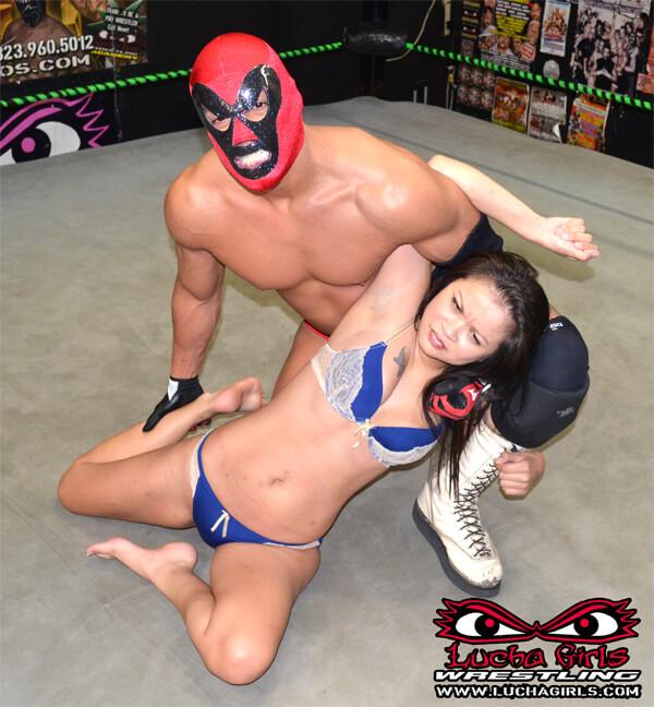 mixed wrestling man wins