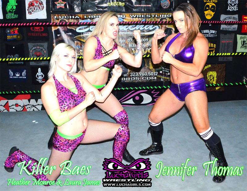 1715 – Killer Baes vs Jennifer Thomas – 2on1 All Female Wrestling