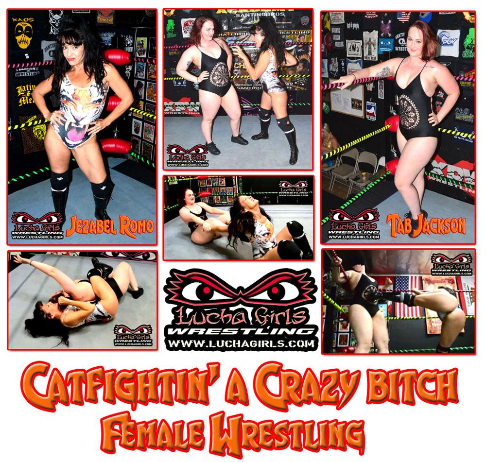 1580-Catfightin' a Crazy Bitch – Female Wrestling